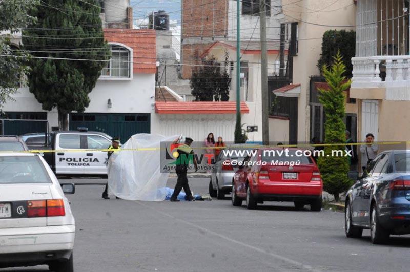Muere hombre baleado en la Colonia Electricistas de Toluca