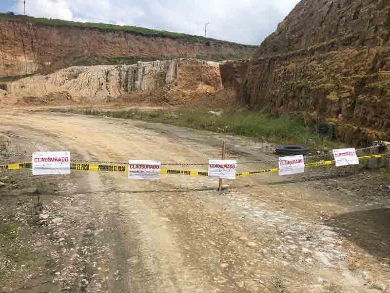 Clausuran minas en Calimaya y Xonacatlán por anomalías