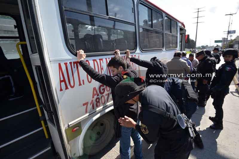 Aumenta 8 por ciento delitos a bordo de transporte público