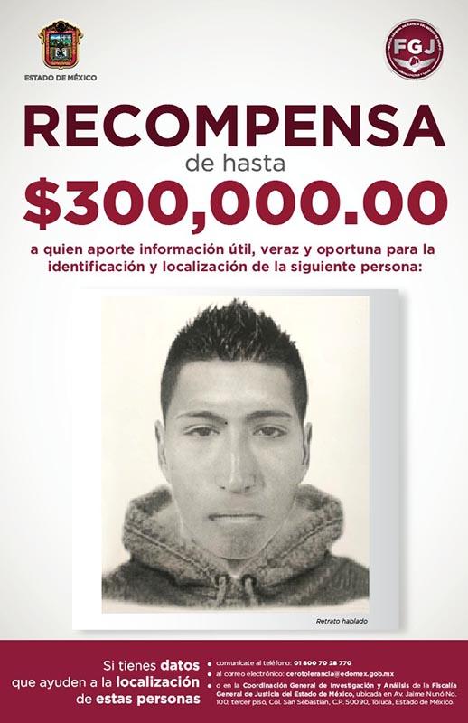 300 mil pesos de recompensa para capturar a asesino