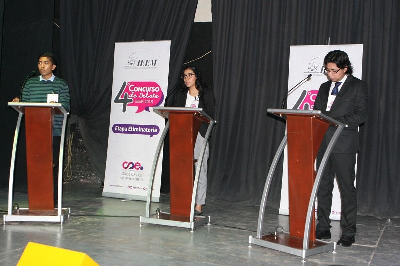 Publica IEEM folios de universitarios que participarán en Final de Debate