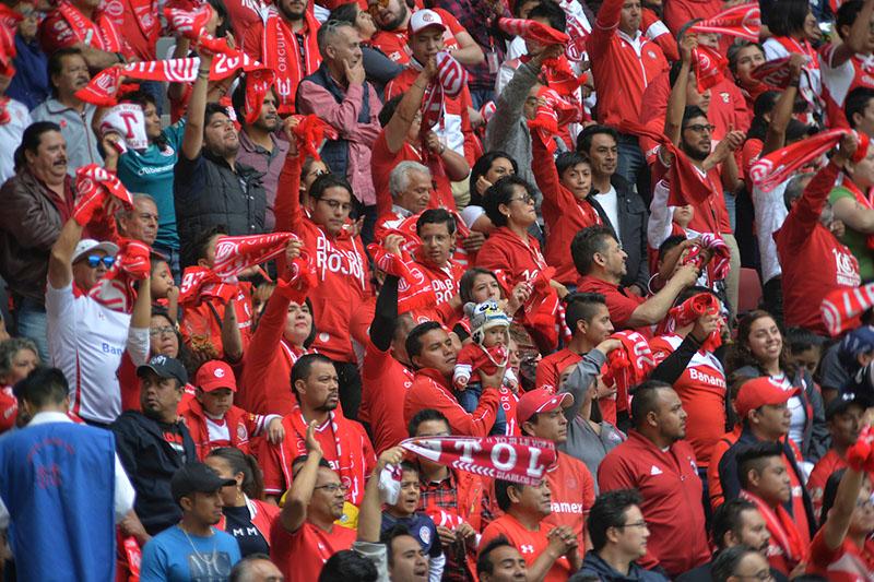 Promedia Toluca 17 mil aficionados por partido