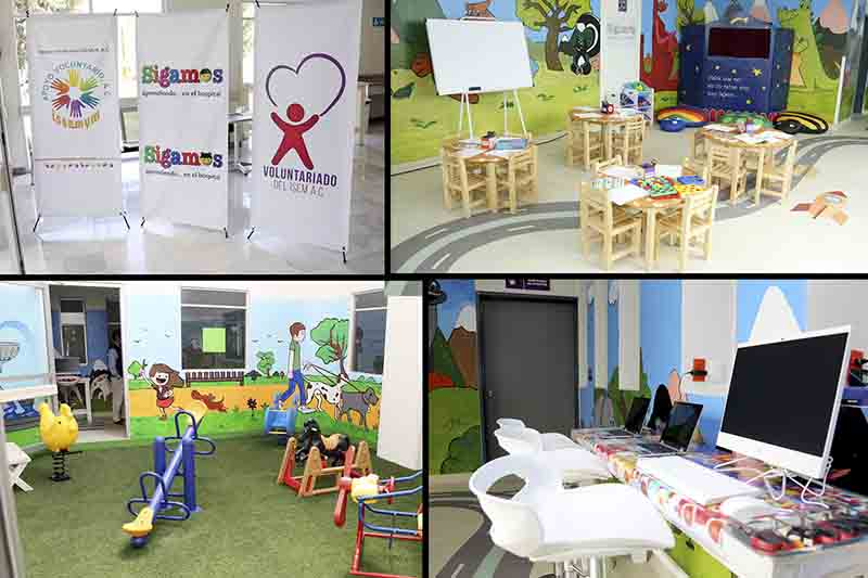 Acondicionan aula en hospital para niños con cáncer