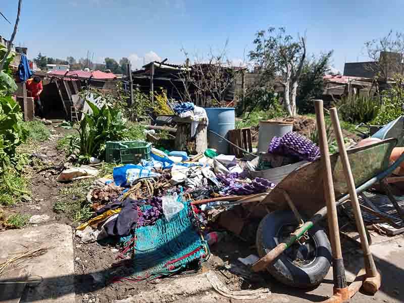 Las lluvias también dejaron daños en Zinacantepec