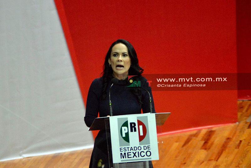 Asume Alejandra del Moral por segunda vez dirigencia estatal del PRI