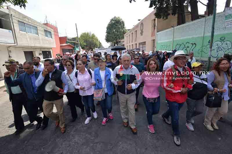 Marcha planilla derrotada en las elecciones del SMSEM