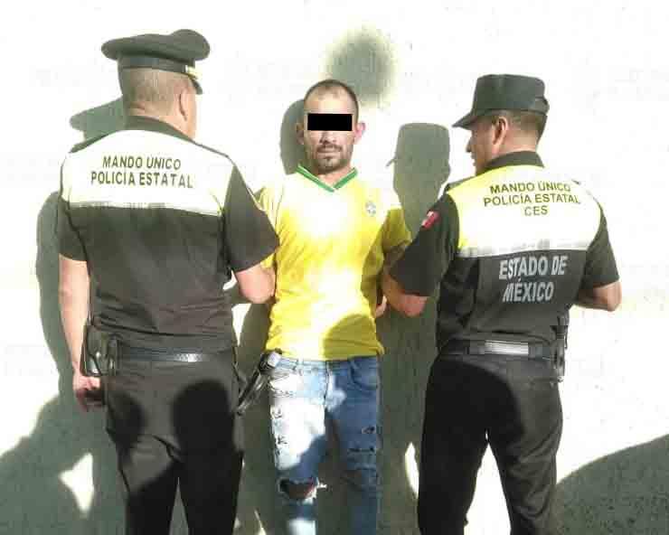 Detienen a presunto asaltante armado en Toluca