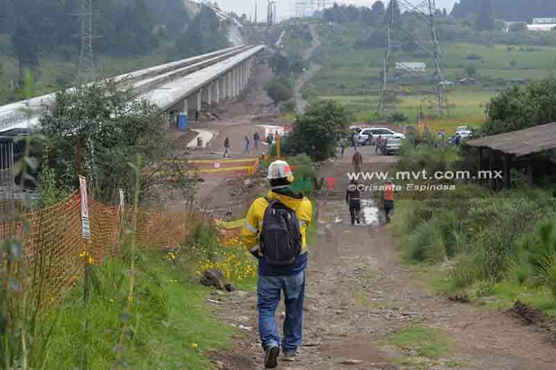 Impiden trabajos del Tren Interurbano en tramo de 4.7 km