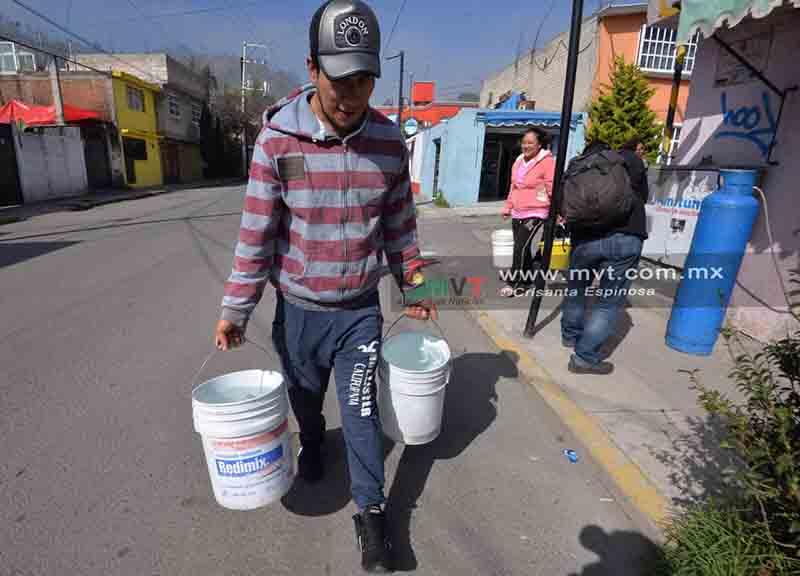 Diputados de Morena plantean condonación del pago de agua a quienes padecen desabasto