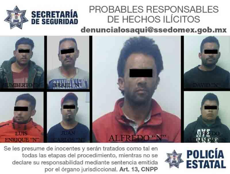 Detienen a siete sujetos en El Seminario con tractocamión robado