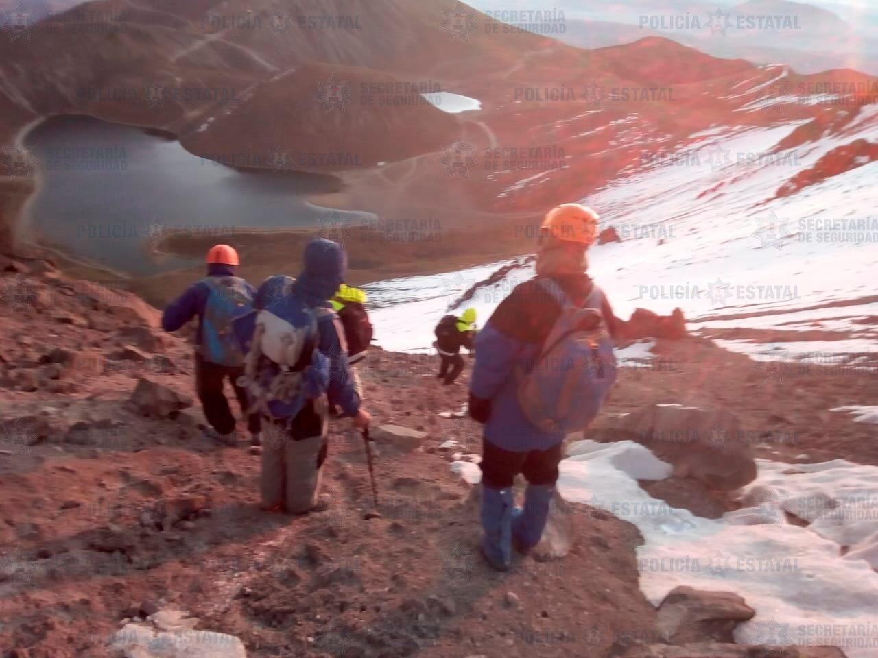 Rescata SS a cuatro extraviados en el Nevado de Toluca