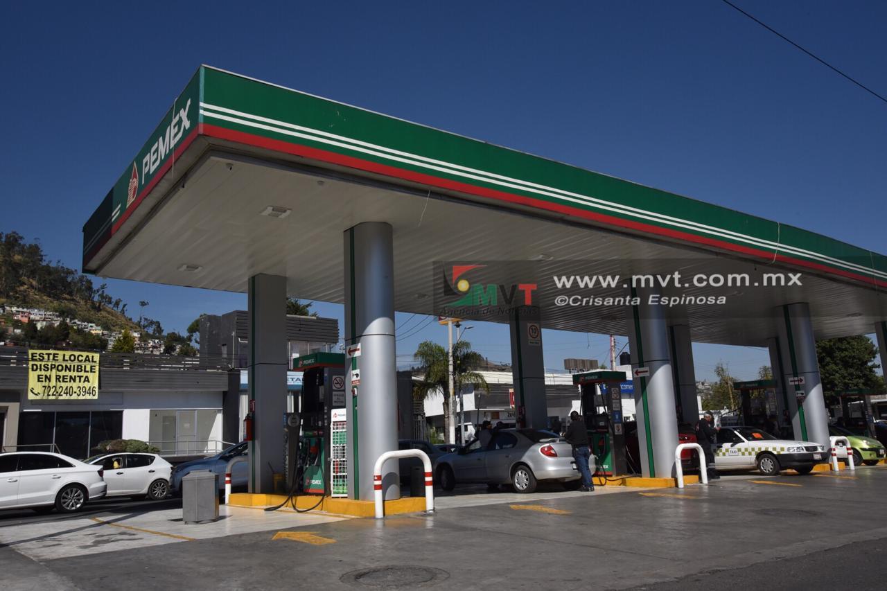 Garantizan abasto de gasolina en el valle de Toluca