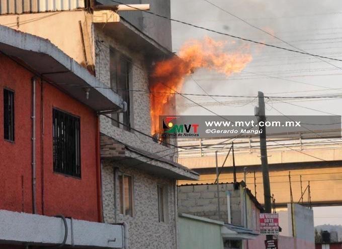 Reportan incendio en la colonia El Seminario