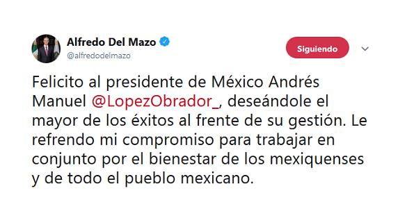 Expresan apoyo políticos mexiquenses a AMLO