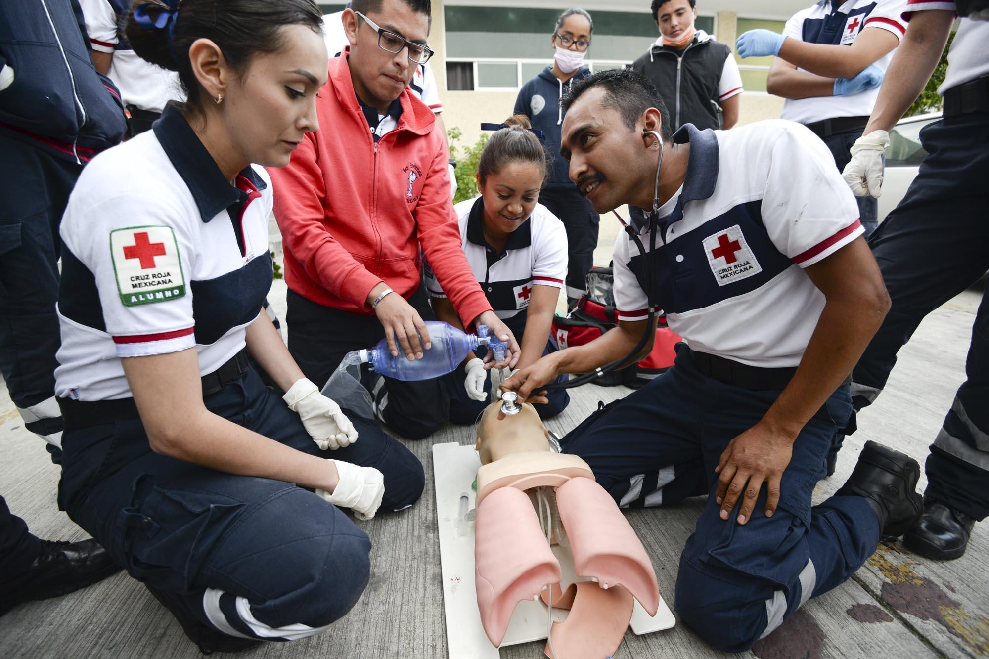 La capacitación es sinónimo de engrandecimiento de la Cruz Roja en el Estado de México