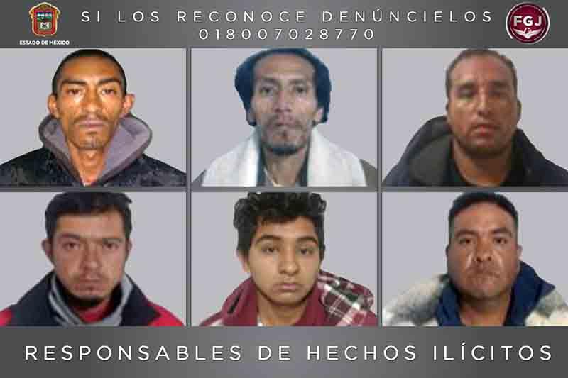 Cinco décadas de prisión a seis secuestradores toluqueños