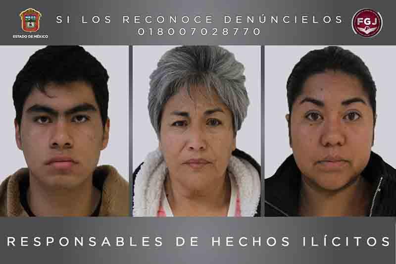 Por secuestro en Jiquipilco, dos mujeres y un hombre van 50 años a la cárcel