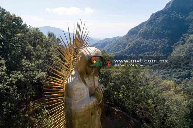 Imponente la Virgen de Guadalupe de Ocuilan
