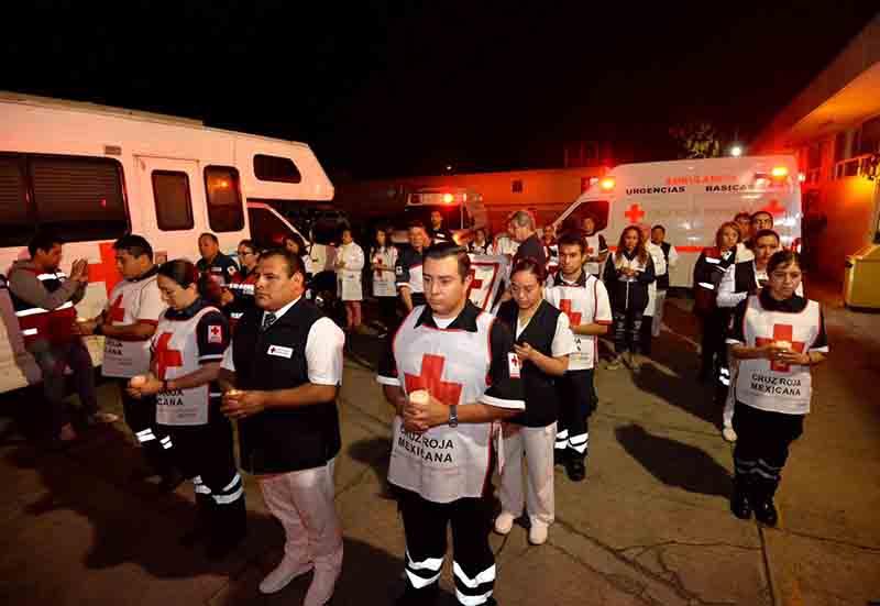 Recuerdan a elementos caídos en Cruz Roja mexiquense