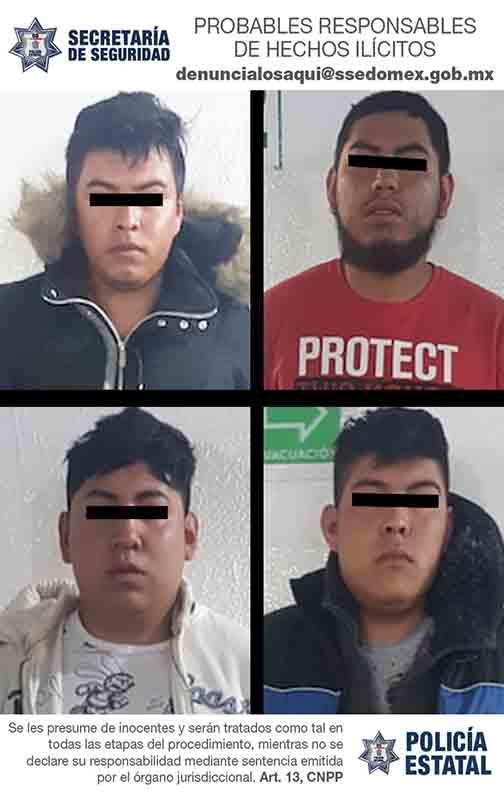 Detienen a cuatro tras asalto a camión de pasajeros en Toluca