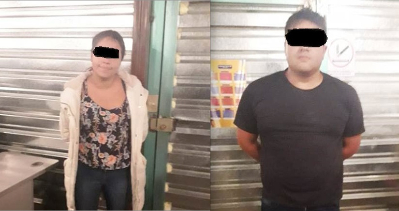 Detenida una pareja por intervenir cajero autómatico en Metepec