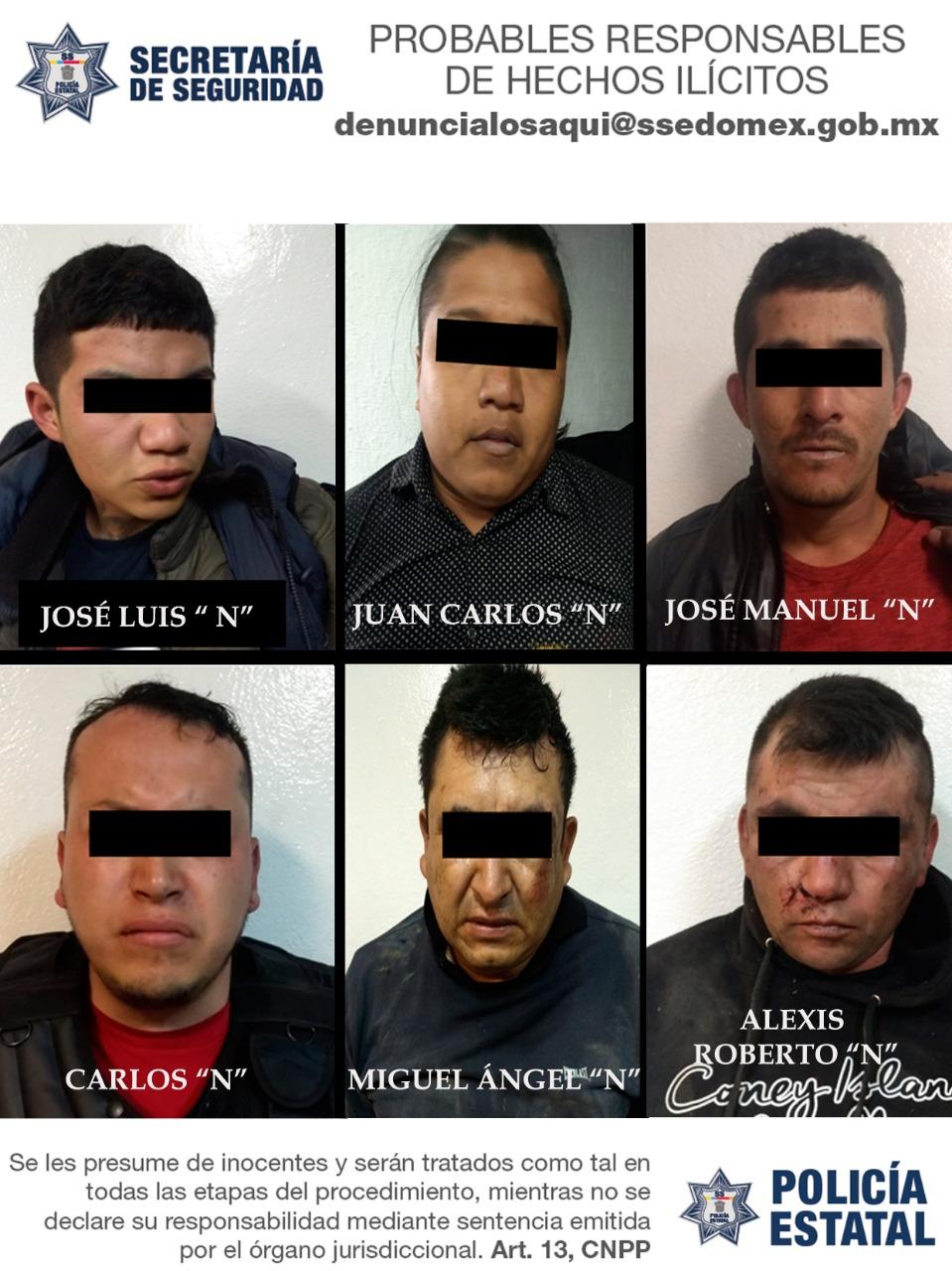 Detienen a ocho sujetos armados tras persecución en Ixtapaluca
