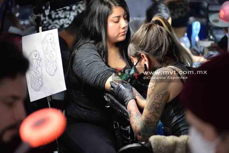 Más de cien artistas en la Expo Tatto Rock Show de Metepec