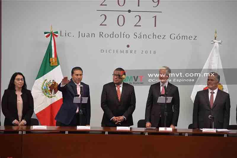 Rinde protesta Juan Rodolfo Sánchez Gómez como alcalde de Toluca
