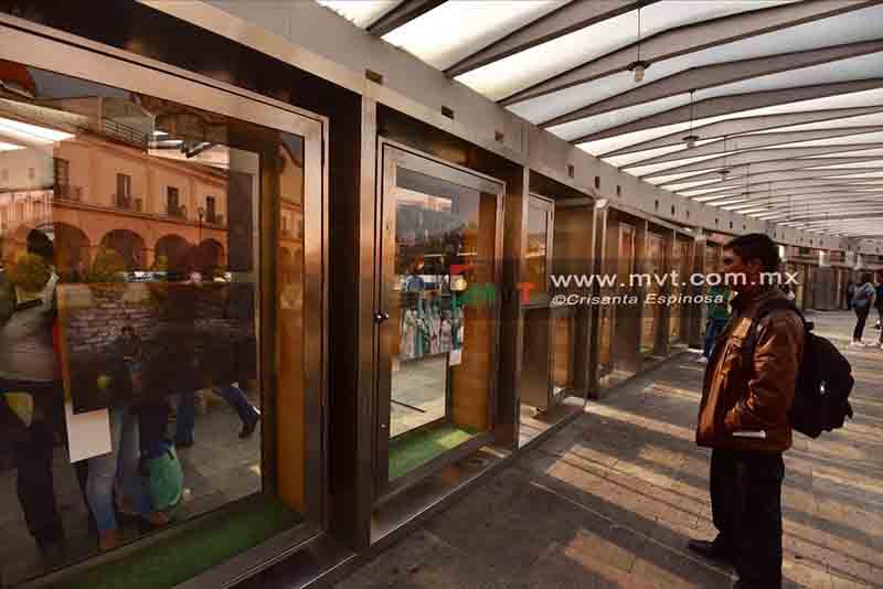 Muestran trabajo fotoperiodístico en Plaza González Arratia