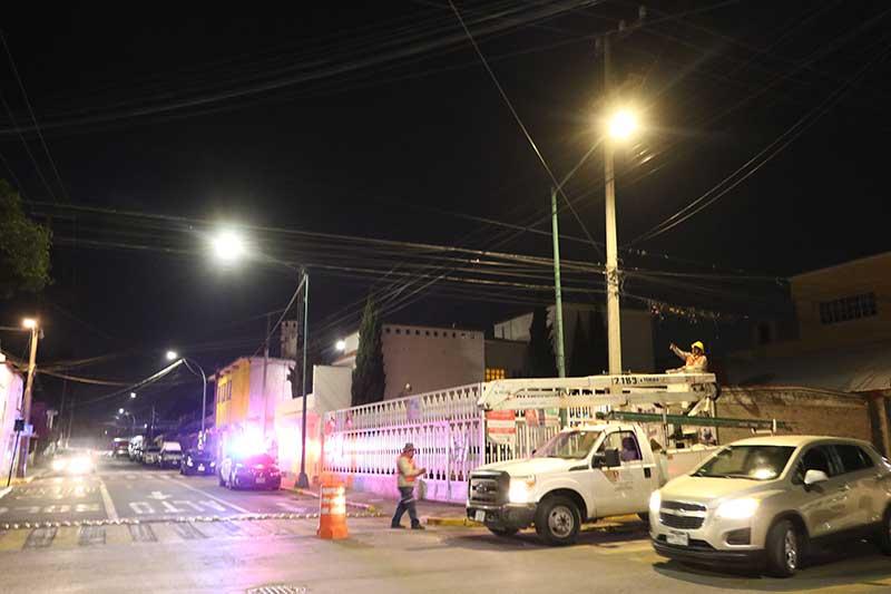Se han rehabilitado ó sustituido más de 12 luminarias en Toluca