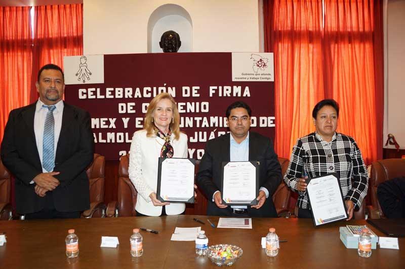 Almoloya de Juárez y la Universidad Digital renuevan convenio para apoyar la educación