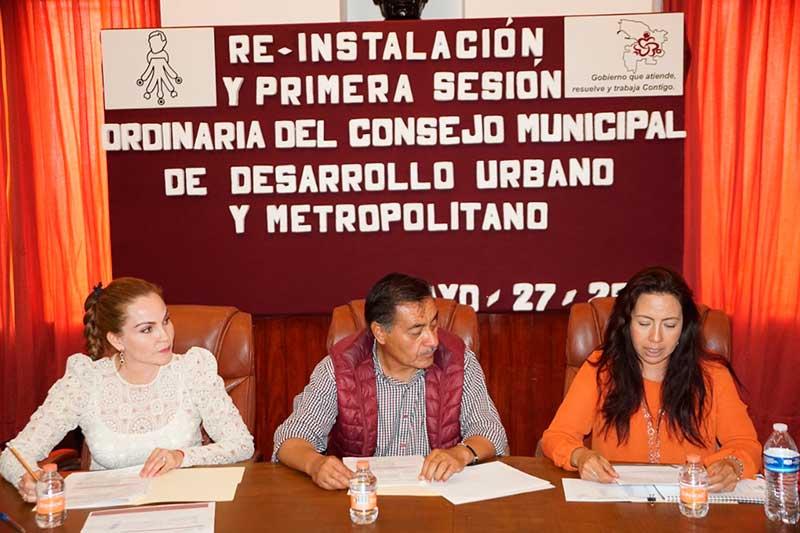 Es reinstalado el Consejo Municipal de Desarrollo Urbano y Metropolitano en Almoloya de Juárez