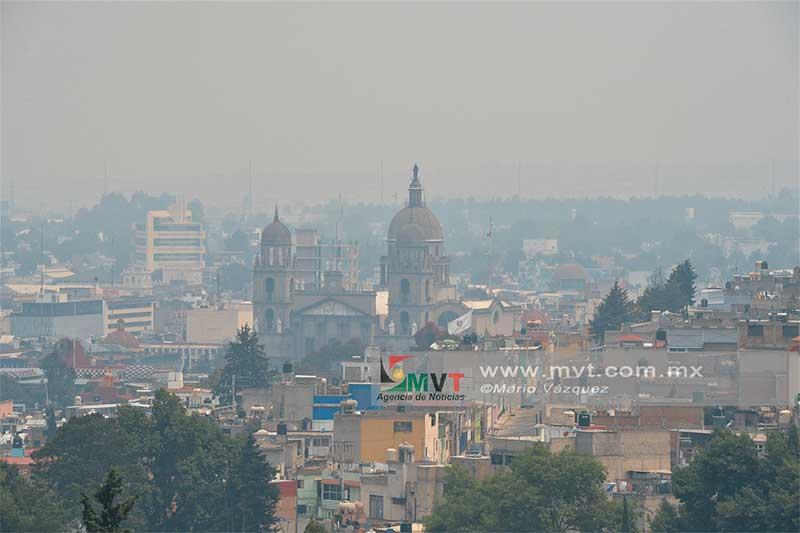 Desde el año 2014 Toluca no registra buena calidad del aire