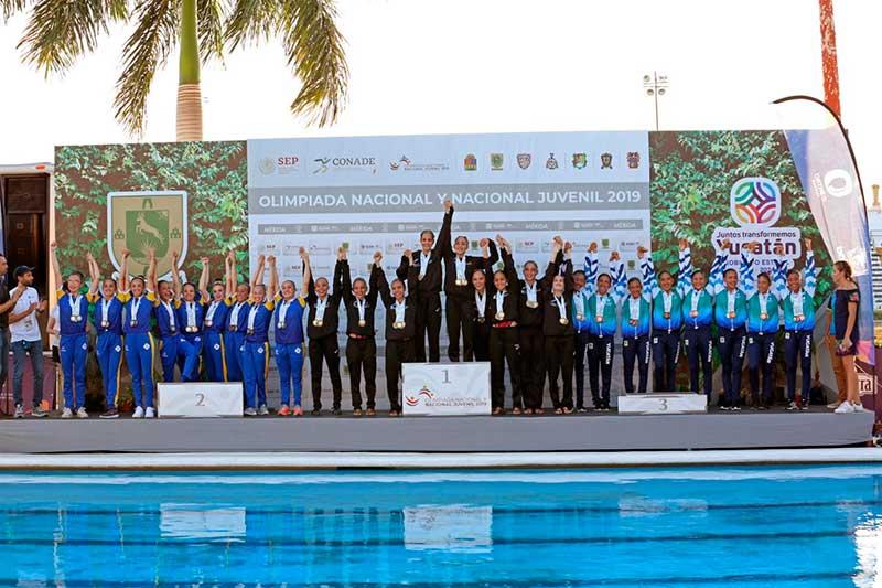 """Con """"broche de oro"""" cierra natación artística en Olimpiada Nacional y Juvenil 2019"""