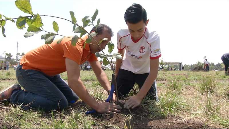 Alcalde de Toluca da inicio a campaña de reforestación cuya meta es plantar 1.5 millones de arboles