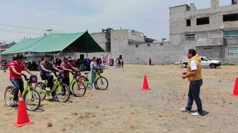 Autoridades de Toluca promueven el uso de la bicicleta