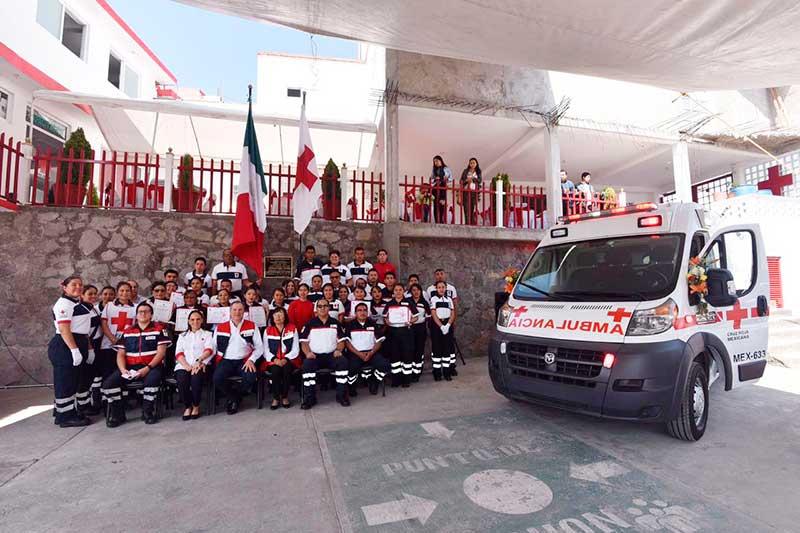 Cruz Roja en Nicolás Romero es reconocida a nivel nacional como Unidad Formadora de Paramédicos