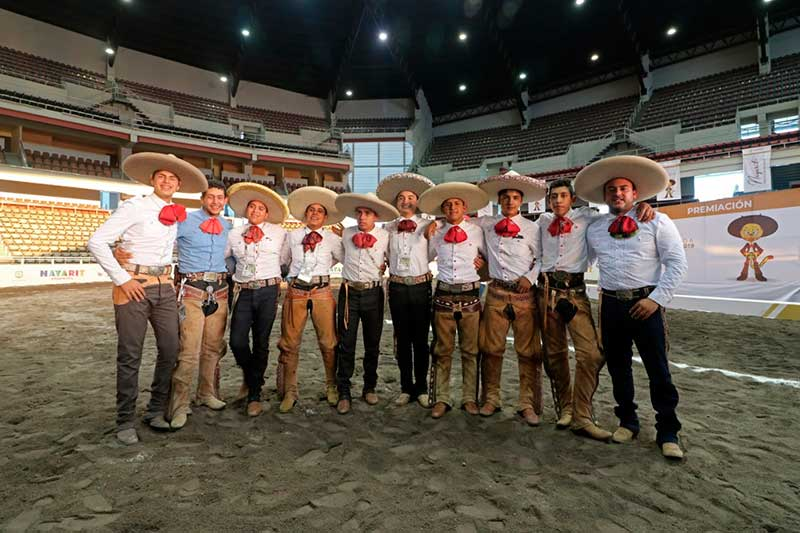 Charrería obtiene cinco medallas en Olimpiada Nacional 2019