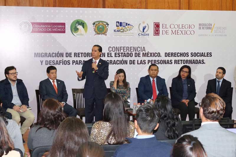 Ombudsman propone a diputados ley de recepción e integración de migrantes mexiquenses en retorno