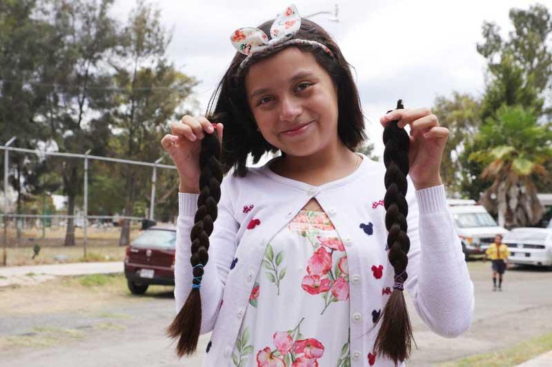 Cruz Roja en Tecámac logra 193 donaciones de cabello en beneficio de niñas con cáncer