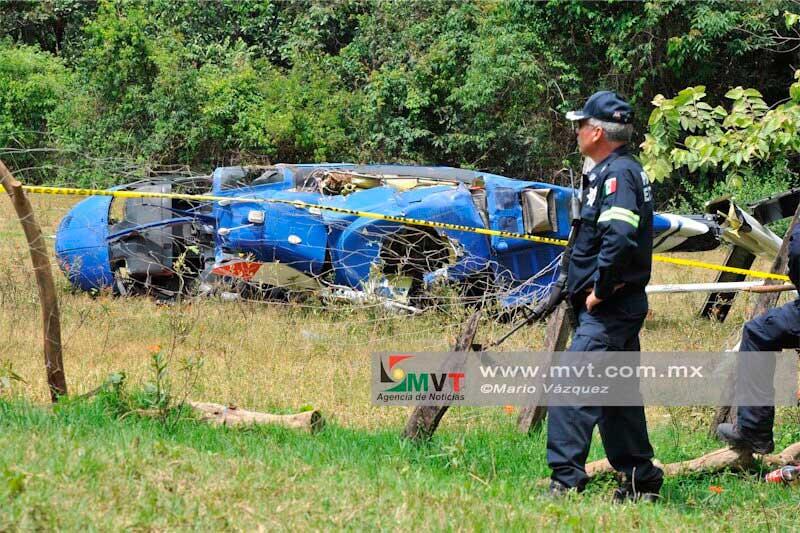 Detienen a un policía estatal por disparar contra helicóptero derribado en Sultepec