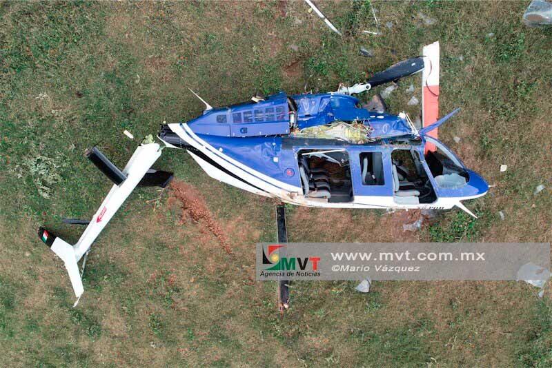 Se desploma helicóptero en Sultepec, habitantes señalan que le dispararon