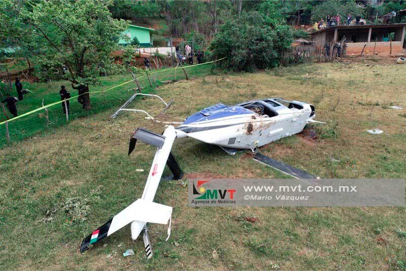 El piloto del helicóptero si recibió un impacto de bala; la FGR llevará la investigación de Sultepec