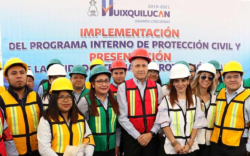 Se presentan unidades internas de Protección Civil en Huixquilucan