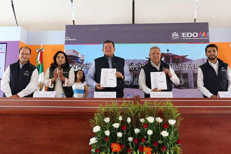 Firman convenio de colaboración el IEEM y la Universidad Intercultural