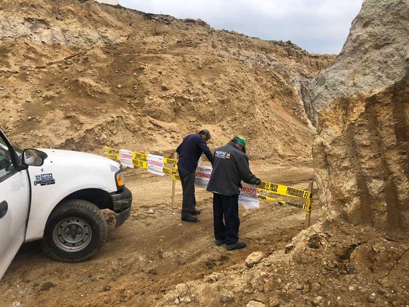 Propaem clausura tres construcciones y una mina en el Valle de Toluca