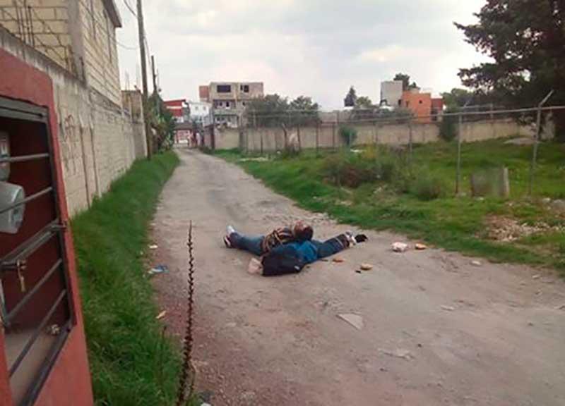 Asesinan a dos personas en Metepec, estaban atados y torturados