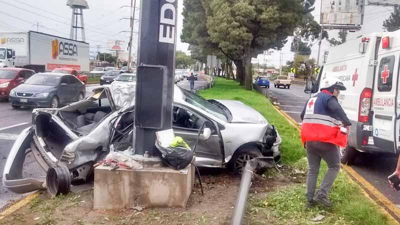 Se registra segundo accidente del día en Blvr Aeropuerto, muere una persona