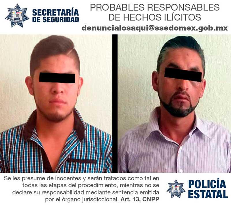 Los detienen con tres pistolas en Santa María Rayón