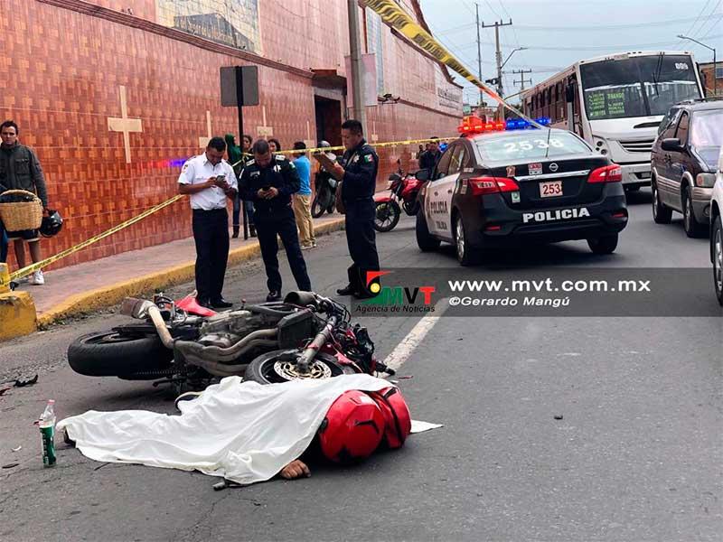 Muere motociclista en Av. Heriberto Enriquez de Toluca
